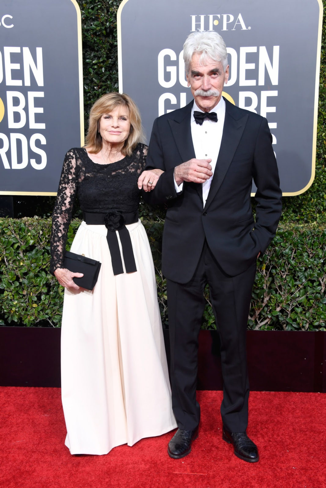Sam Elliott pictured alongside his wife of 35 years Katharine Ross. Source: Getty
