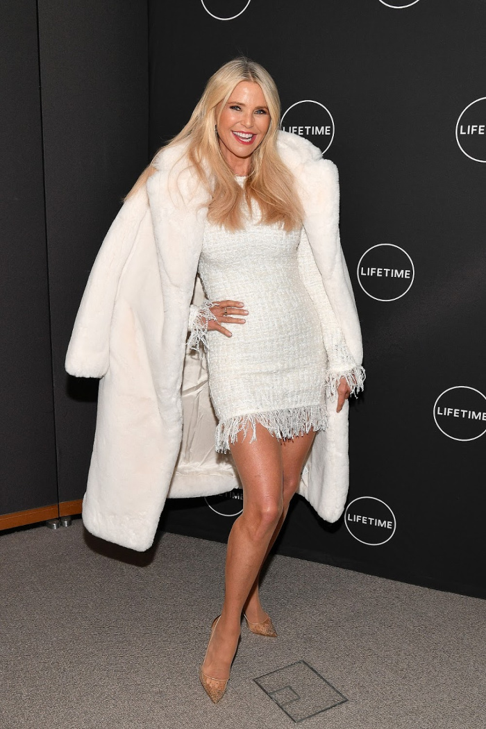 Christie Brinkley looked gorgeous in a cute mini dress at American Beauty Star event.