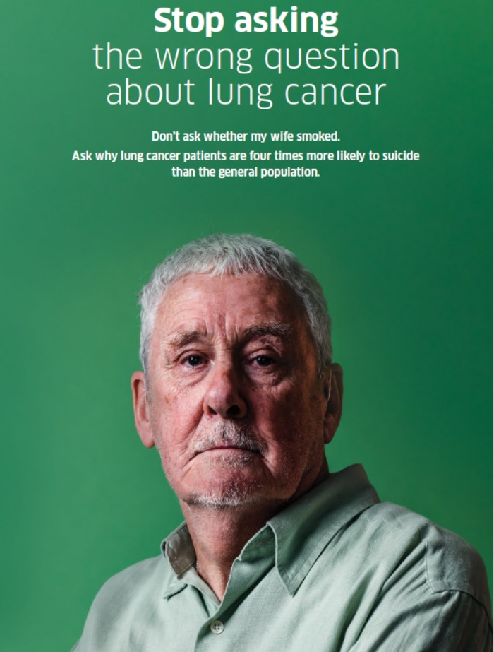 Ken appears in a confronting new campaign to stop the stigma associated with lung cancer.