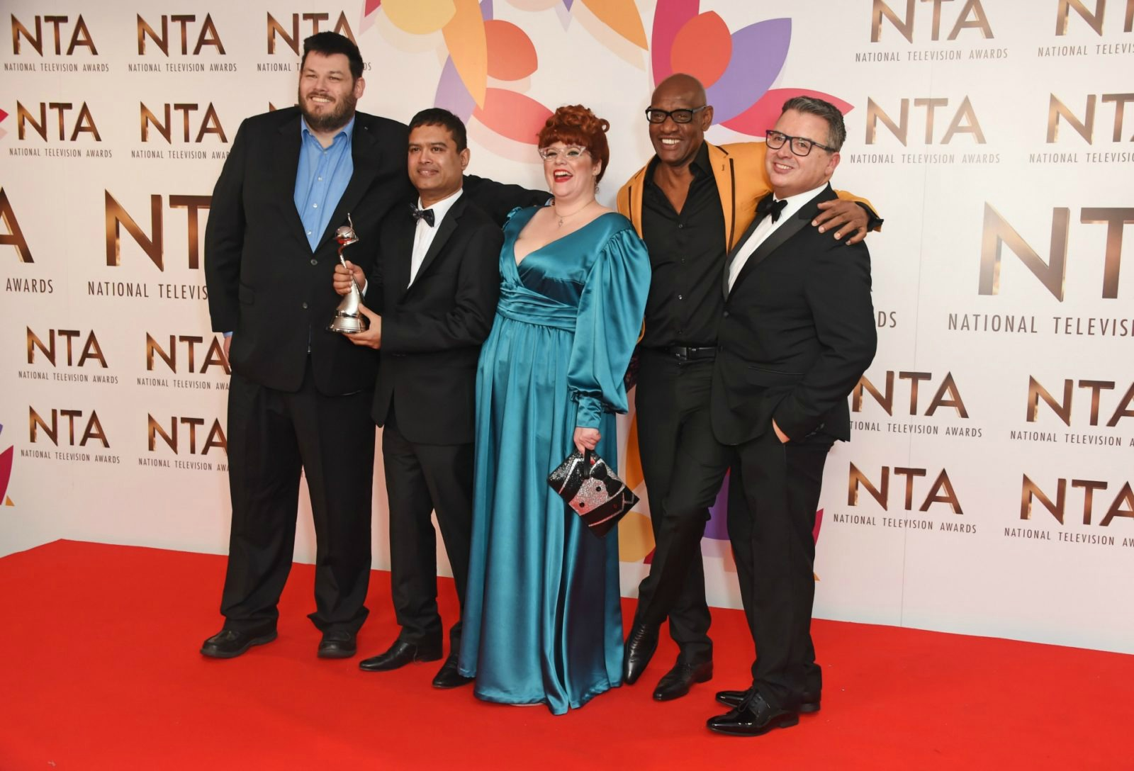 Mark Labbett, Paul Sinha, Jenny-Ryan and Shaun Wallace, and producer Michael Kelpie (L-R), pulled out all the stops at the star-studded event.