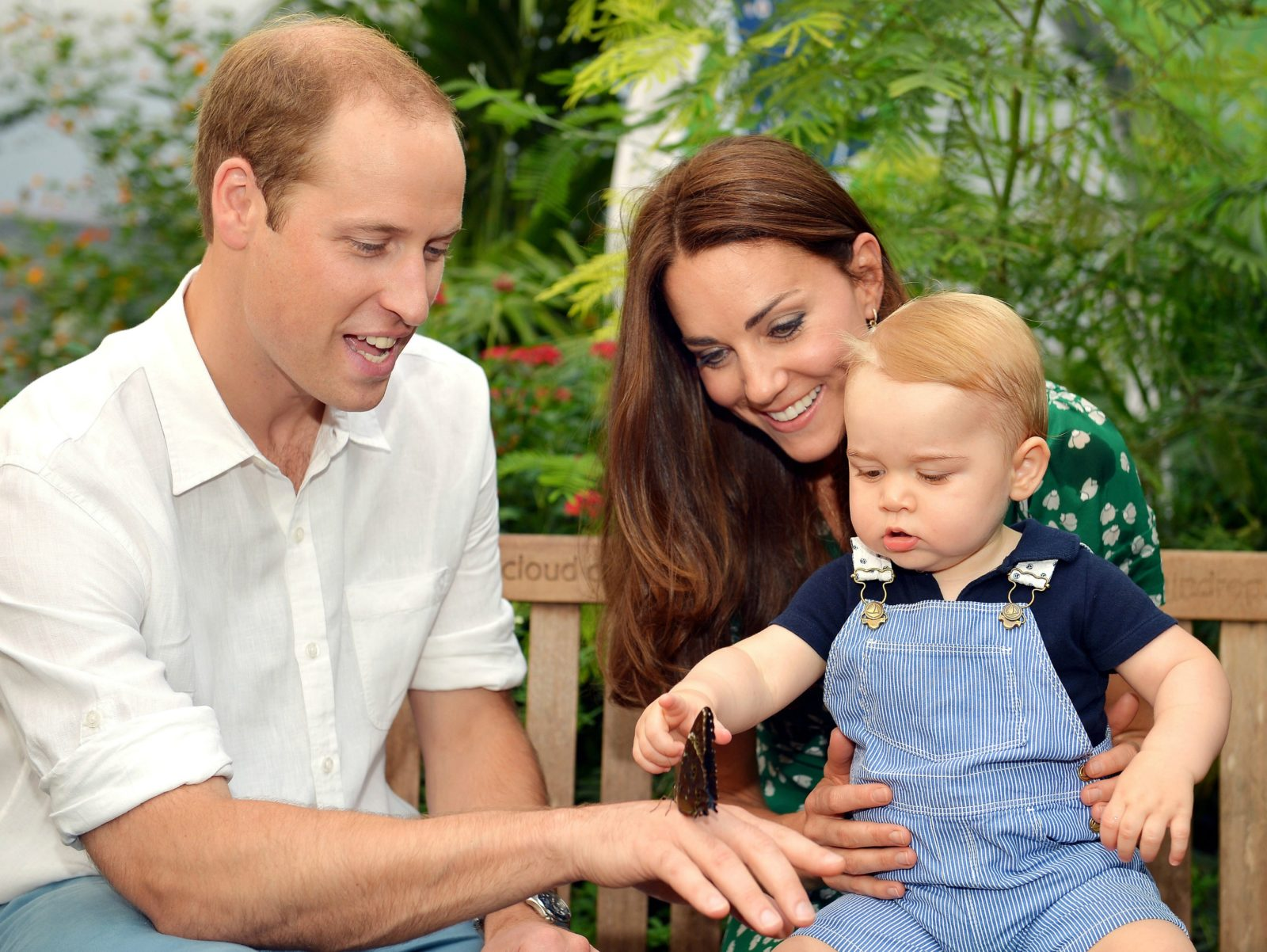 Prince William with his wife Catherine and baby Prince George. Source: Getty.