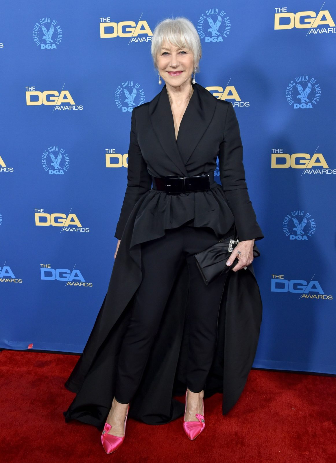 Helen Mirren wowed in an all-black outfit at the 71st Annual Directors Guild of America Awards in Hollywood.