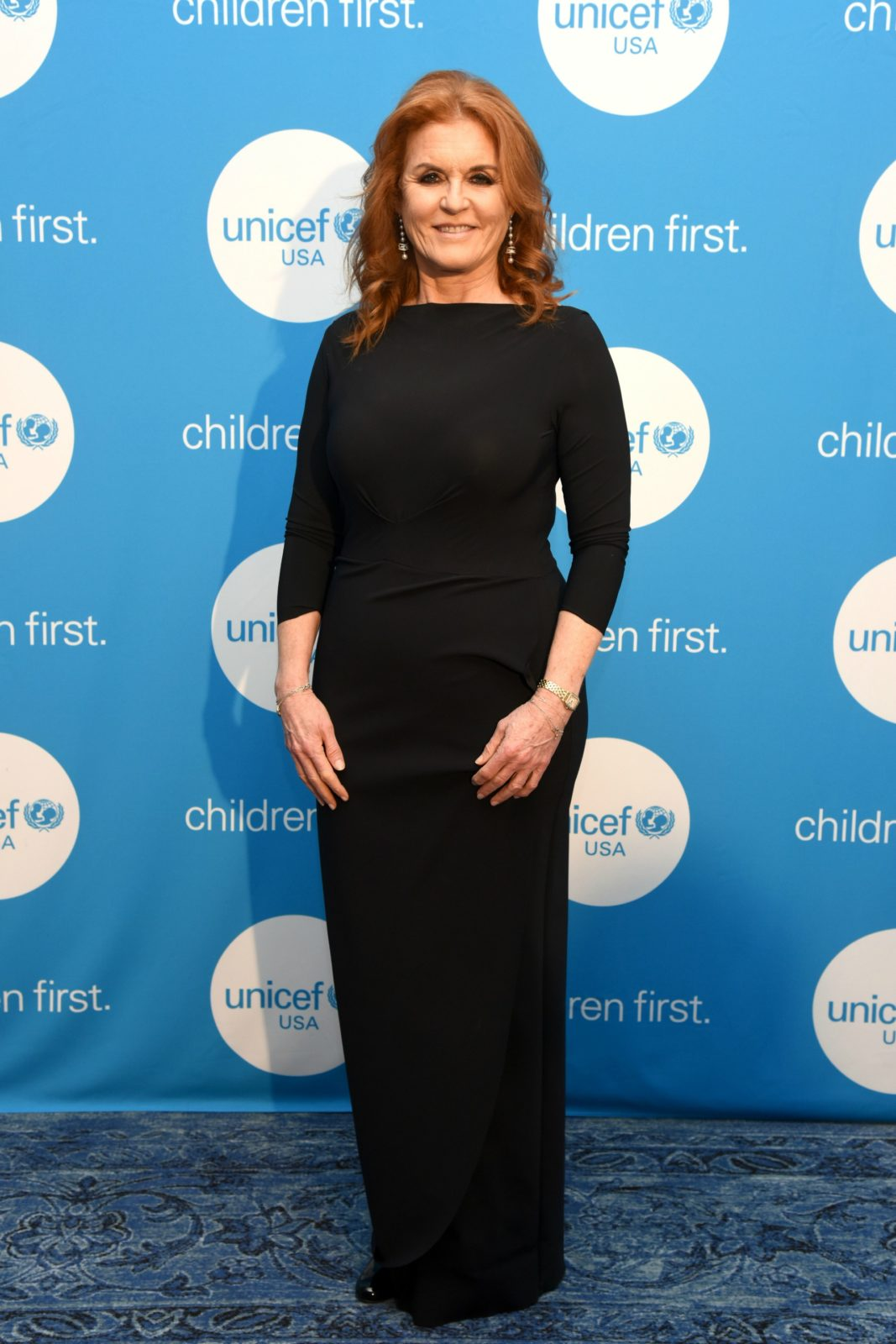 Sarah Ferguson wowed in a figure-hugging black gown as she attendedthe annual Unicef gala in Dallas, Texas on Friday. Source: Getty