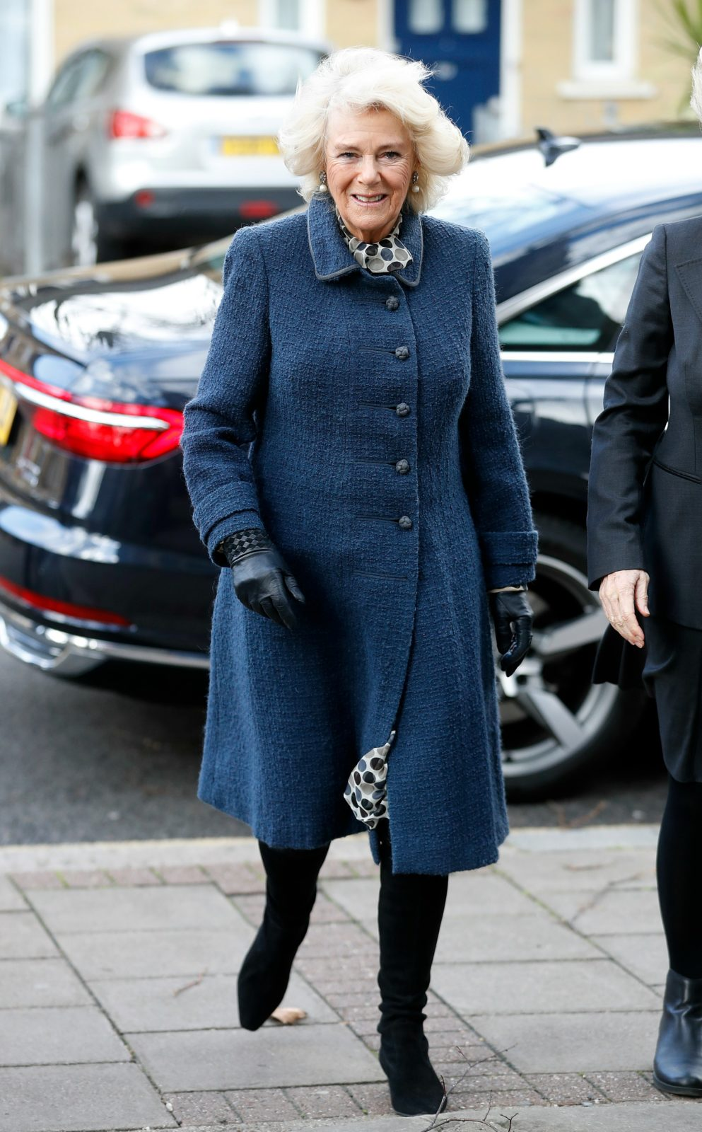 Camilla looked effortlessly stylish in the blue outfit. Source: Getty.
