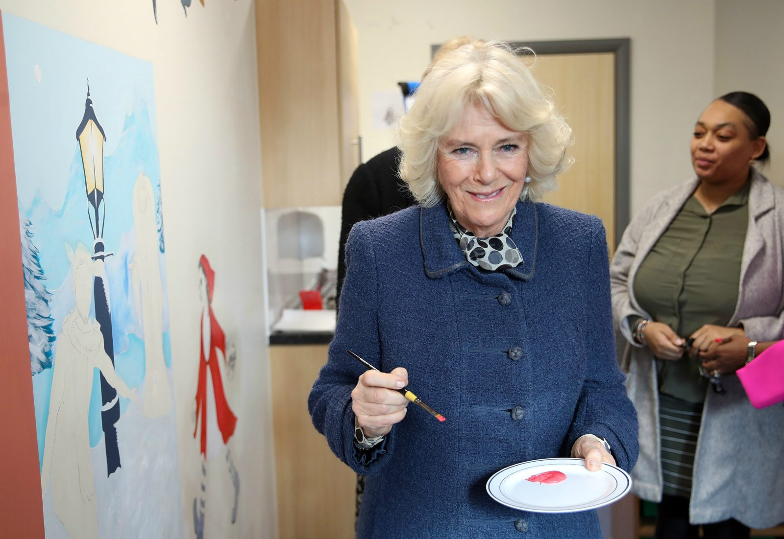 Camilla even tried her hand at painting. Source: Getty.