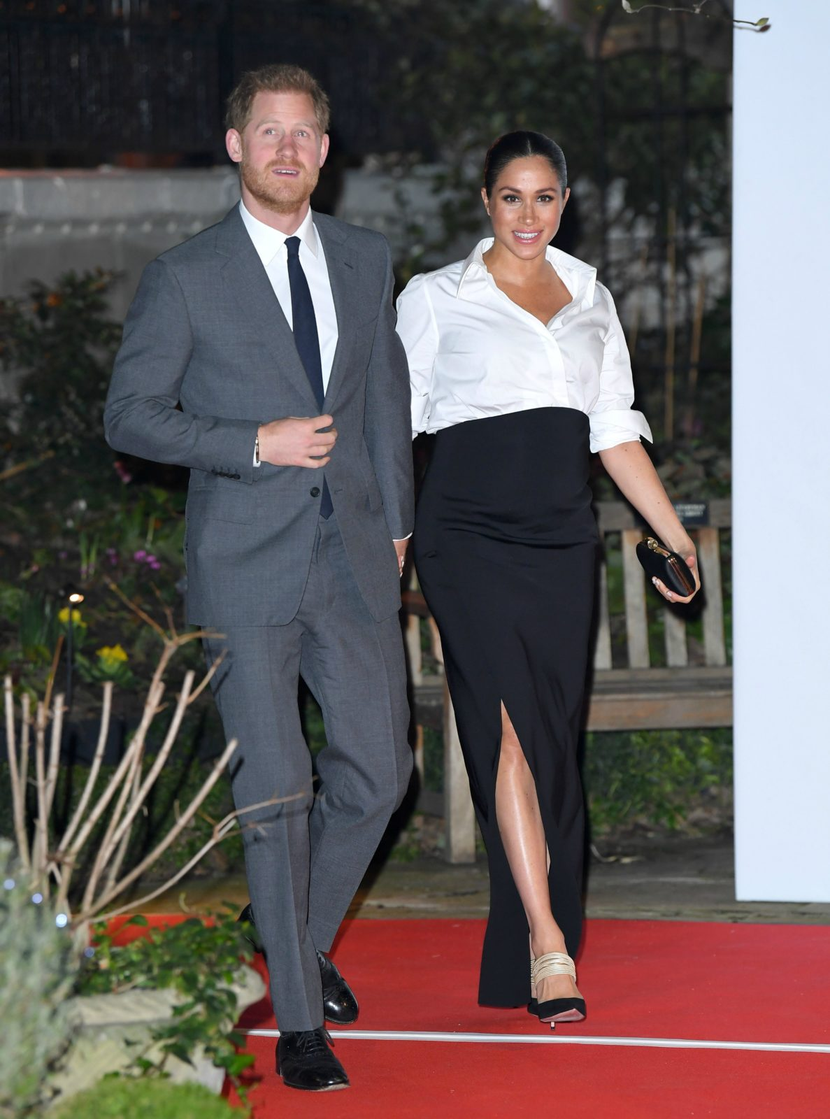 Meghan and Harry looked dressed to impress. Source: Getty.