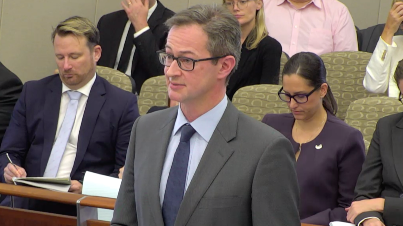 Senior Counsel Assisting Peter Gray QC opened the proceedings, detailing the scope of the hearing. Source: Royal Commission live stream.