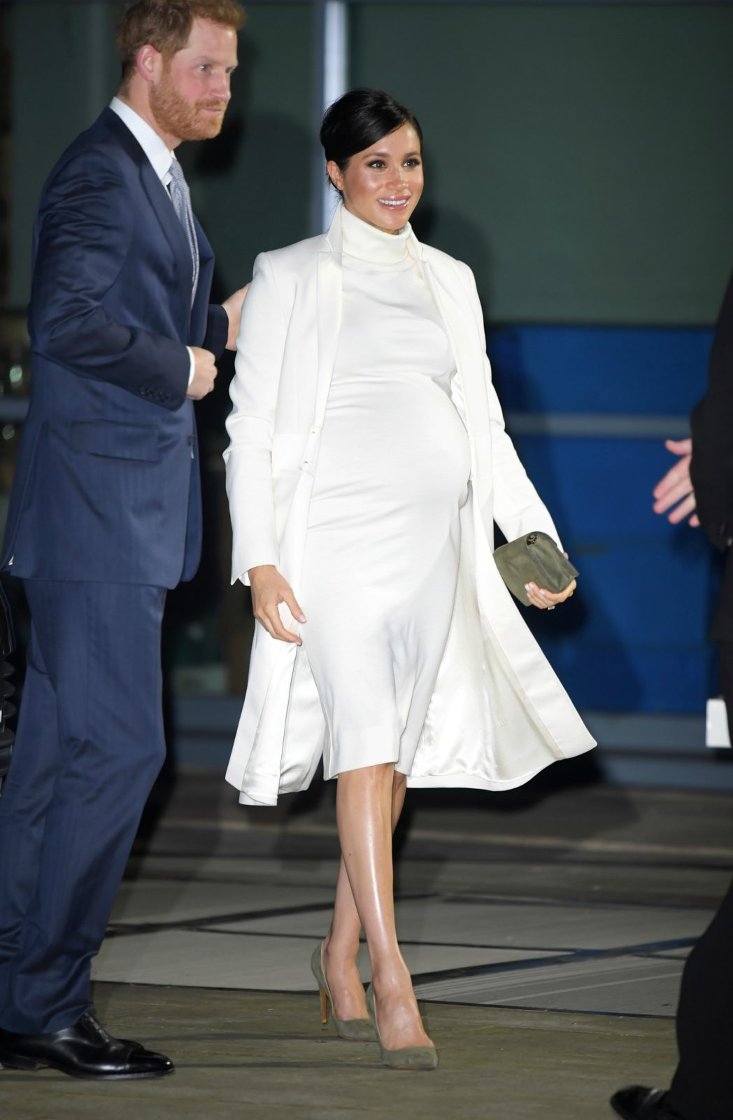 Meghan stole the show in elegant cream. Source: Getty.