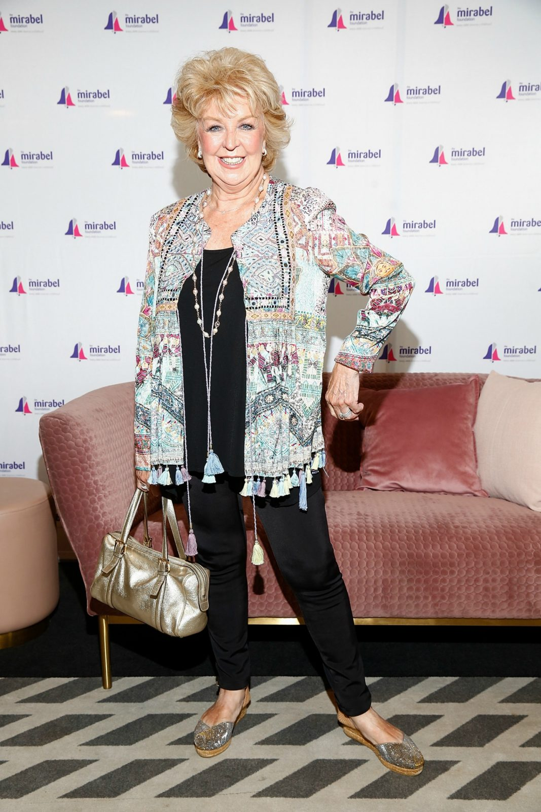 Patti Newton puts her best fashion foot forward at the Mirabel Ladies Lunch 2019.