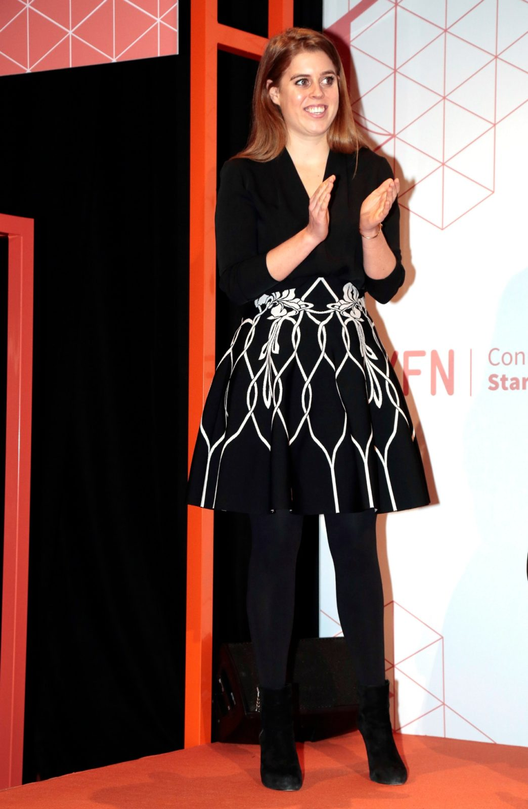 Princess Beatrice made a glamorous appearance at theGSMA Mobile World Congress on Wednesday in Barcelona. Source: Getty