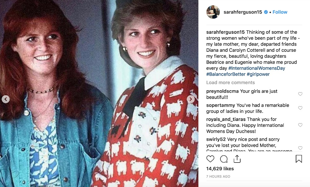 Fergie shared a very colourful photo of the pair. Source: Instagram/Sarah Ferguson.