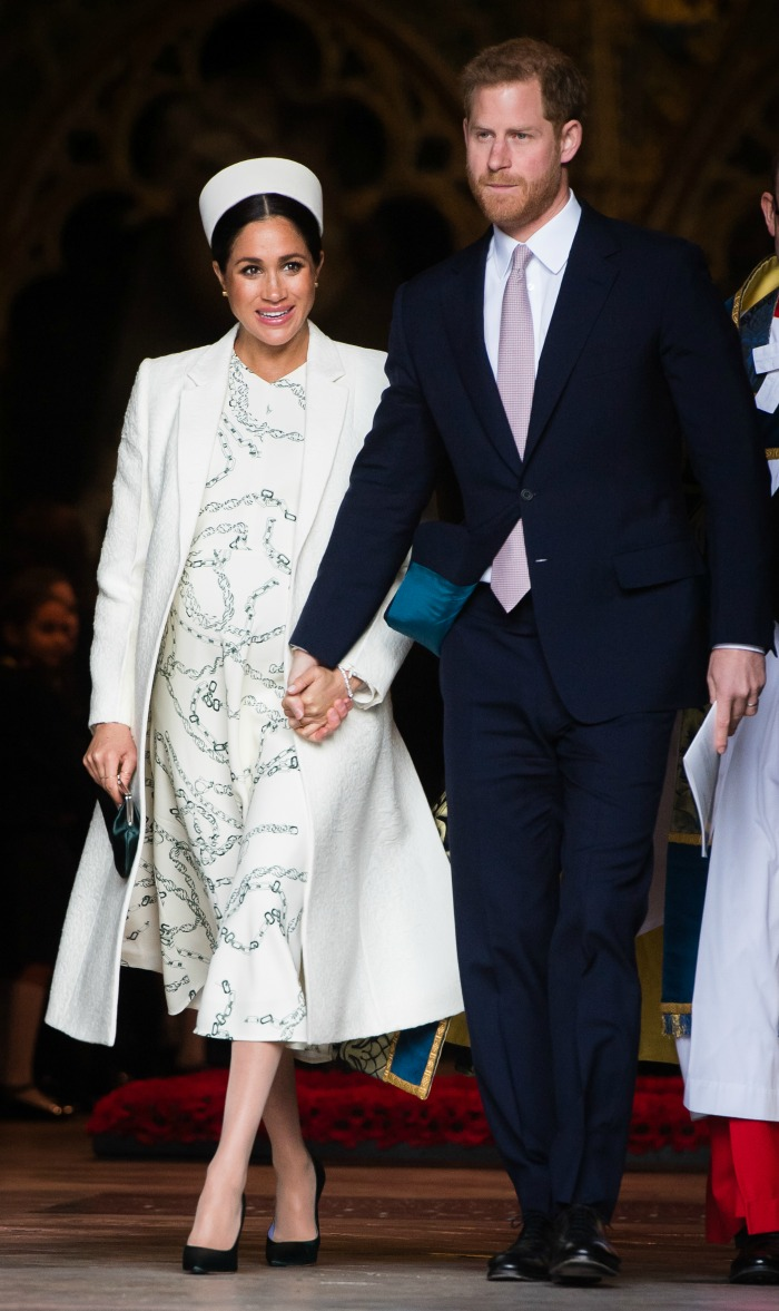 The Duchess of Sussex looked gorgeous next to husband Prince Harry for the Commonwealth Day service on Monday.