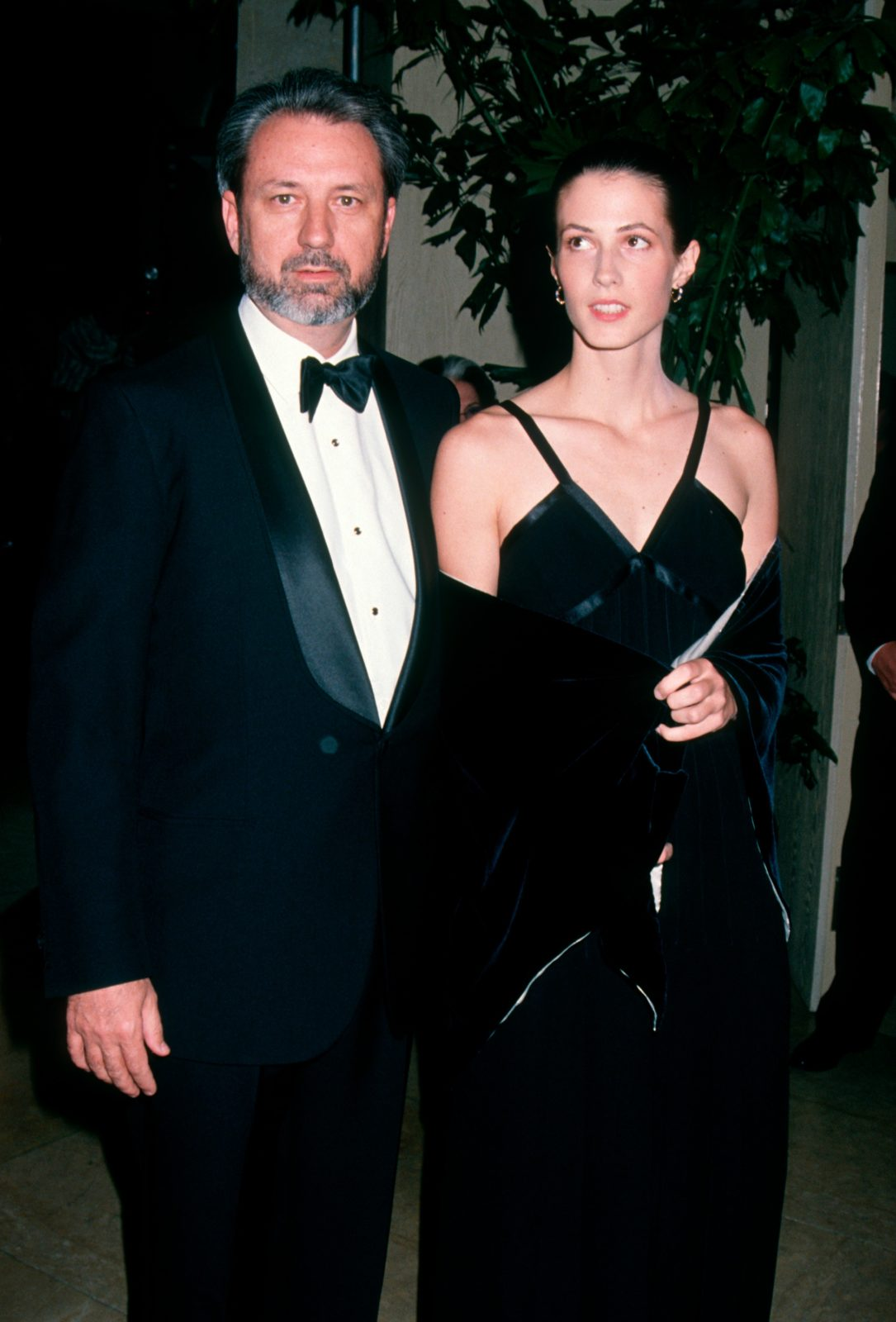 Mike Nesmith and third wife Victoria Kennedy in 1993. Source: Getty.