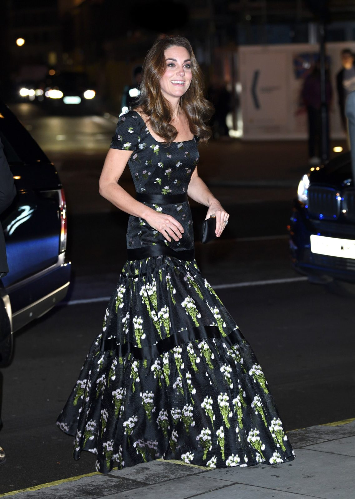 Catherine stunned in the floral Alexander McQueen dress. Source: Getty.