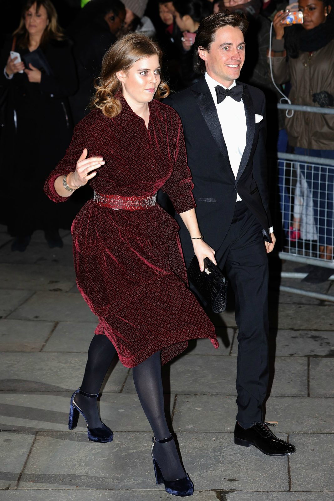 Princess Beatrice made her first public appearance with boyfriend Edoardo Mapelli Mozzi. Source: Getty.