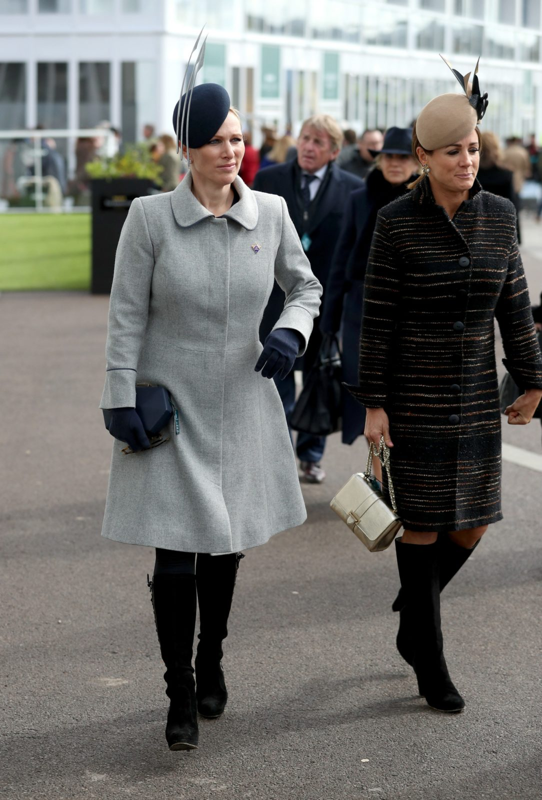 Zara Tindall rocked another stylish headpiece at the races in Cheltenham.