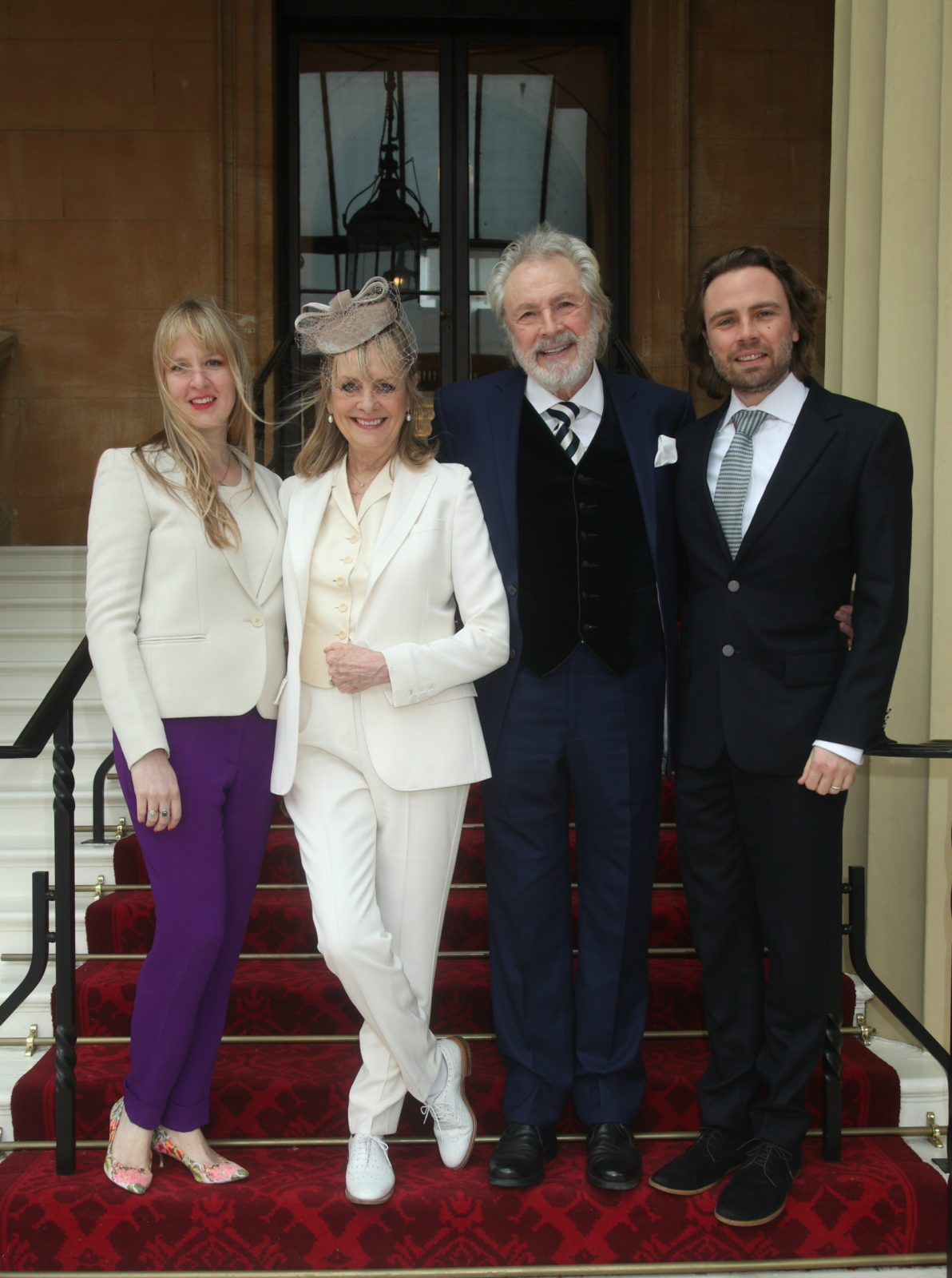 Twiggy was joined by her actor husband Leigh, son Jason and daughter Carly. Source: Getty