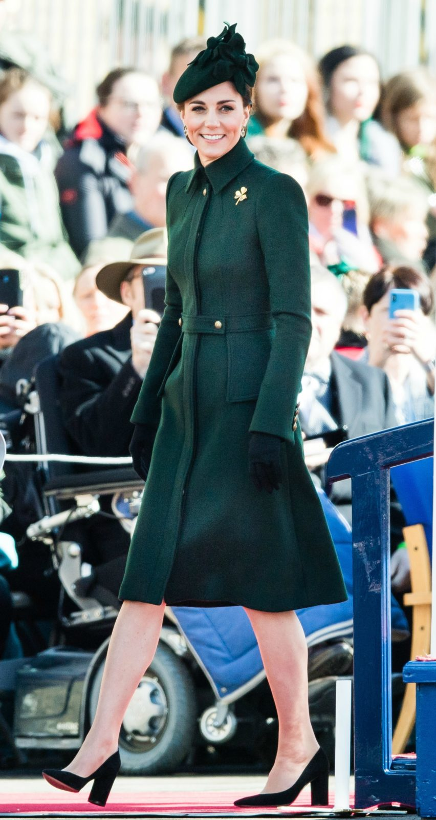 Catherine looked beautiful in emerald green. Source: Getty.