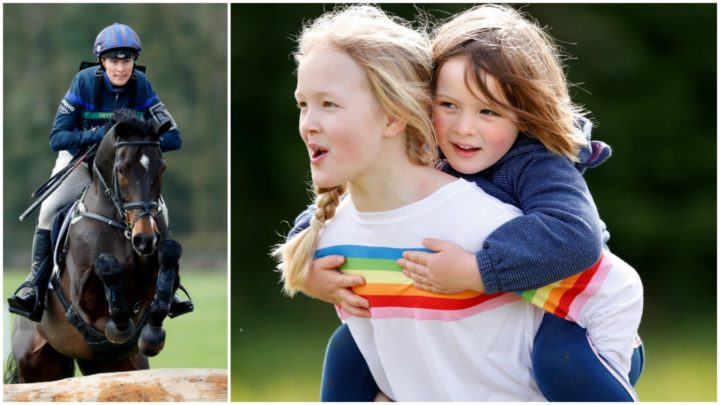 49d946b5b Zara Tindall s playful daughter Mia steals show at horse trials ...