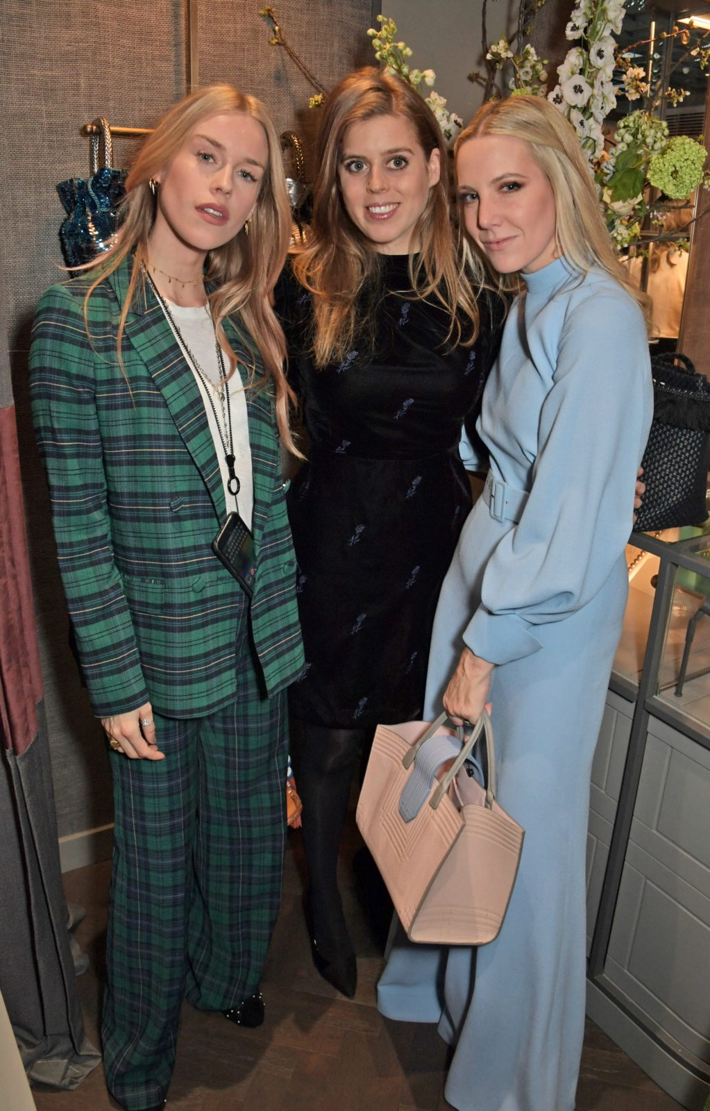 Mary Charteris, Princess Beatrice of York and Alice Naylor Leyland all posed together. Source: Getty.