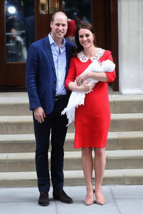 Prince William and Catherine welcomed all three of their children at the Lindo Wing. Source: Getty.