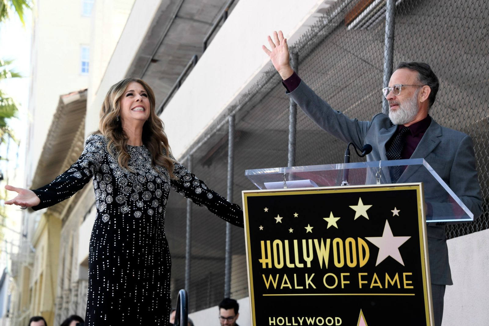 Tom Hanks showered his wife with praise. Source: Getty.