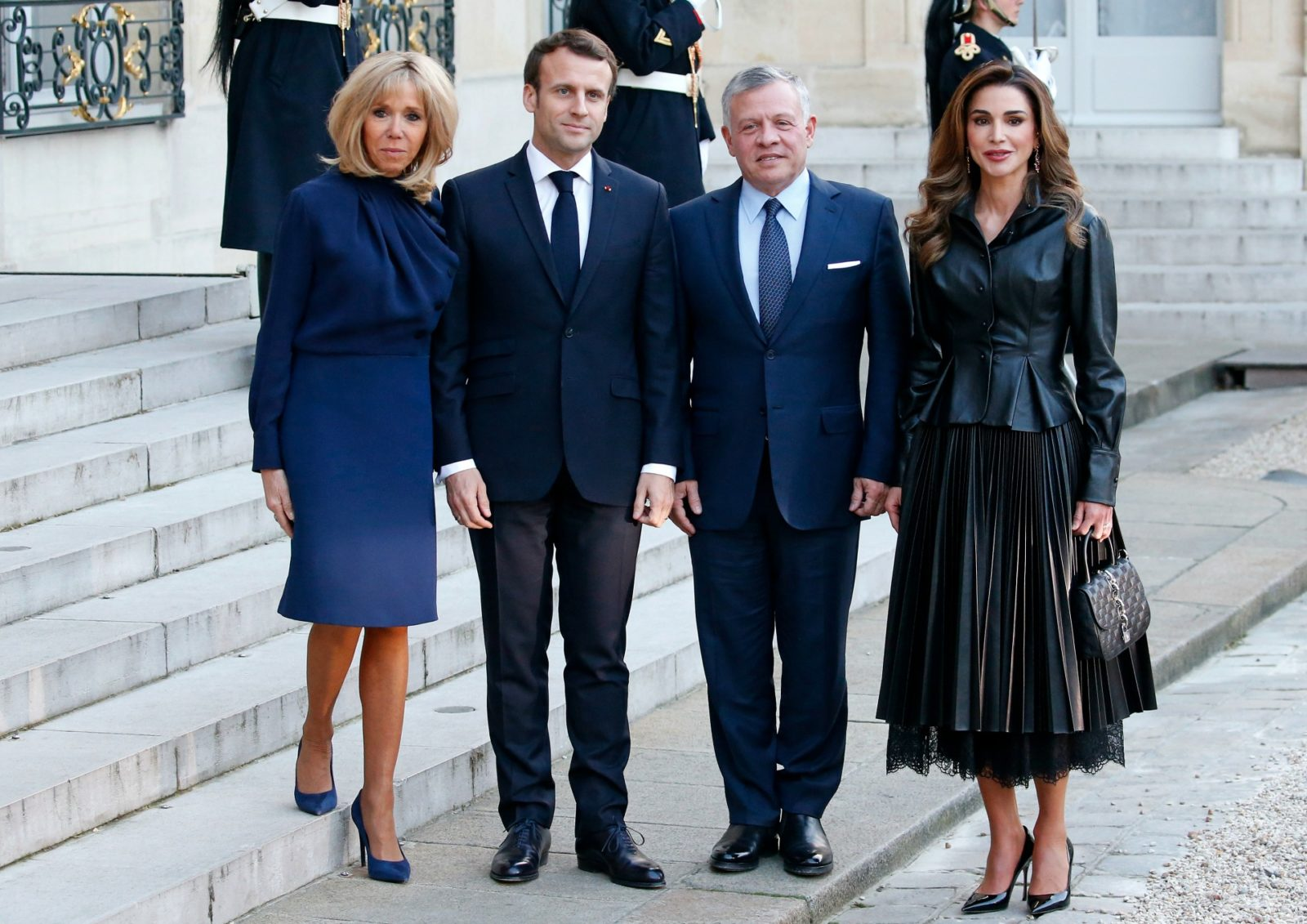 Brigitte Macron And Queen Rania Of Jordan Are Perfectly Chic In France Starts At 60
