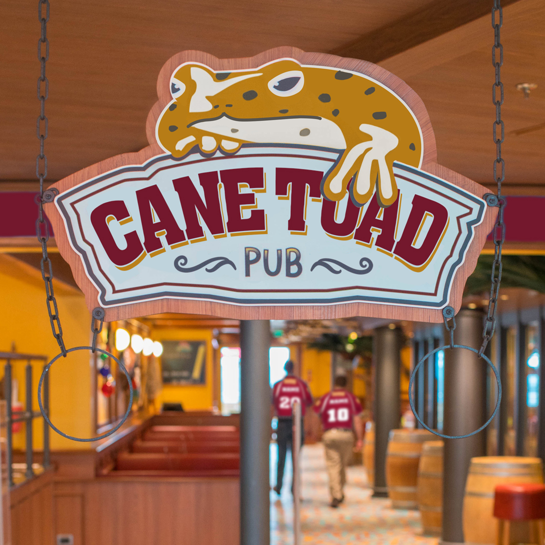 The revamped Cane Toad Pub. Source: Carnival Cruise Line