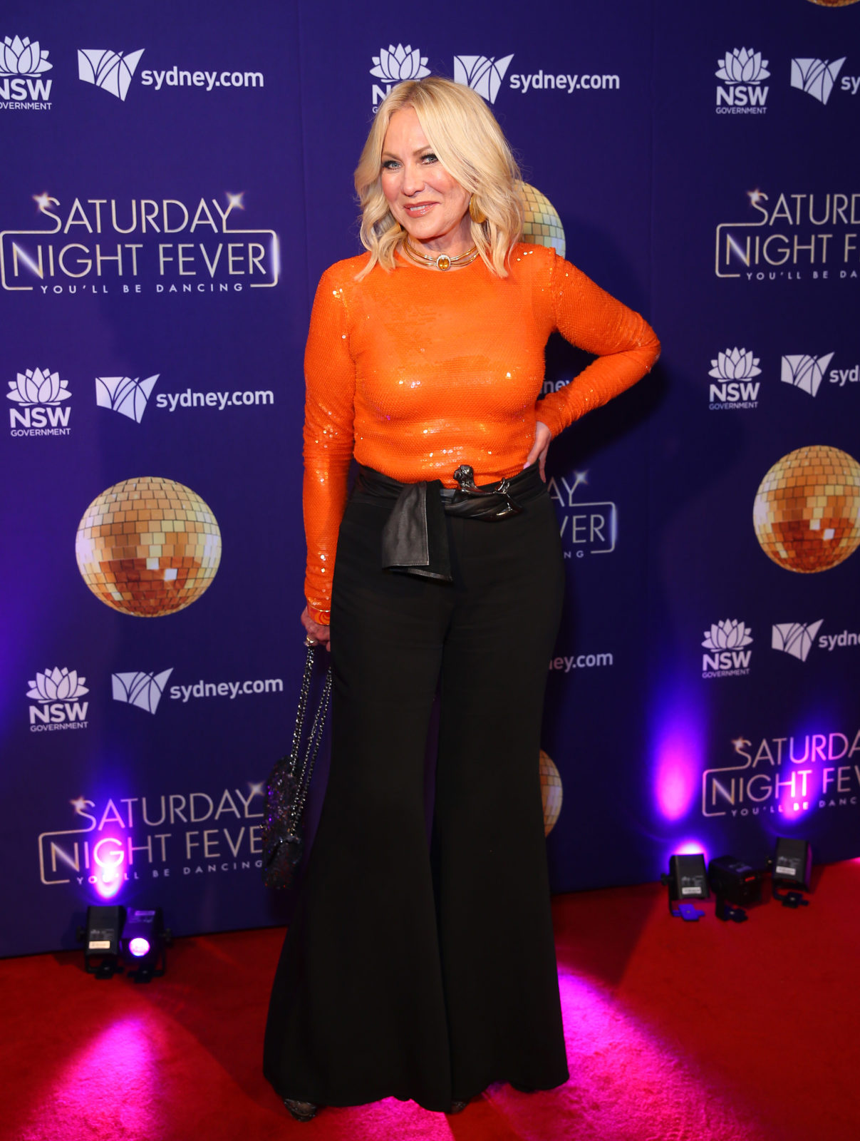 Kerri-Anne Kennerley made her first public appearance since her husband's death in a bold 1970s inspired outfit.