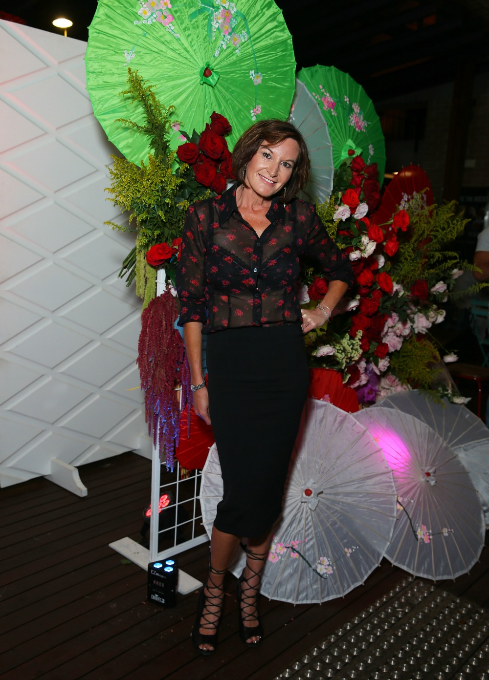 Cassandra Thorburn stepped out in a stylish ensemble to attend a VIP launch party in Sydney. Source: Getty