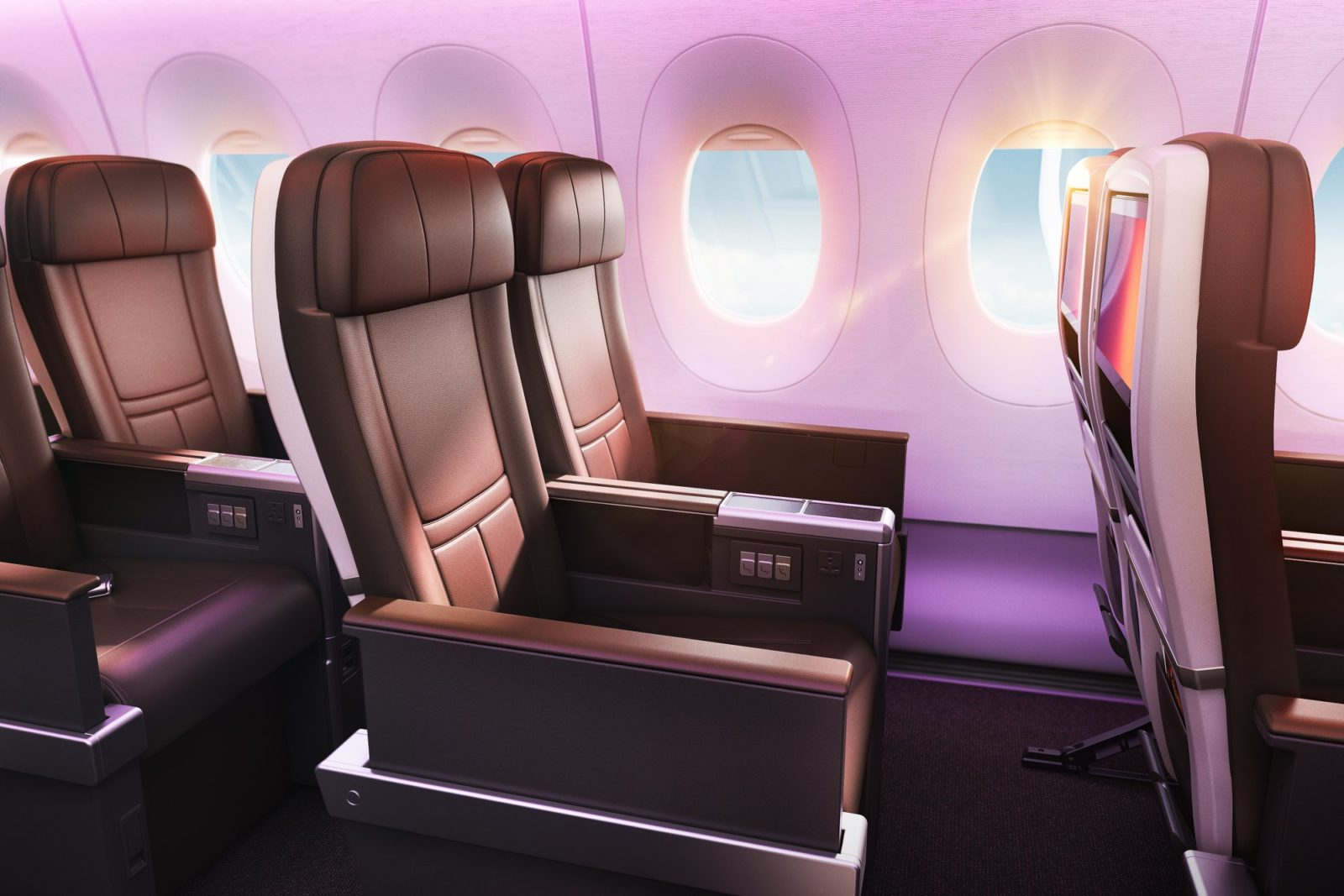 Premium economy seat. Source: Facebook - Virgin Atlantic