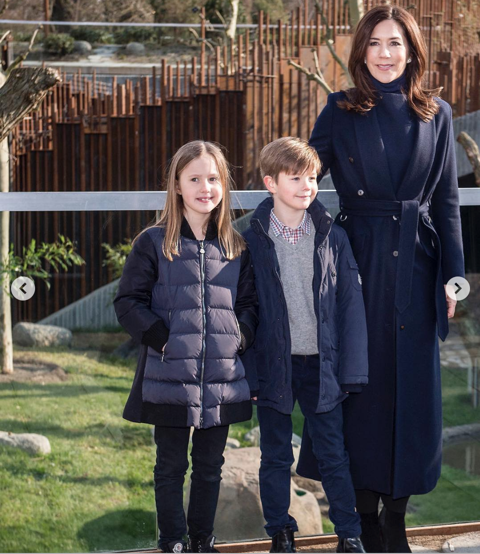 Princess Mary spent the day at the Copenhagen Zoo with children Princess Josephine and Prince Vincent.
