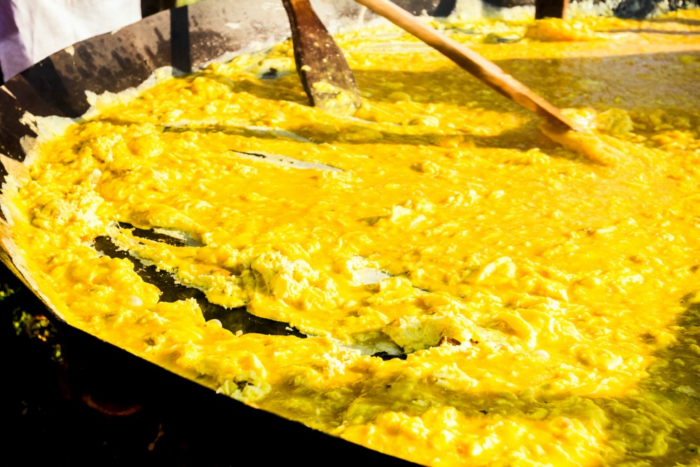 The town of Dumbea in the South Province of New Caledonia hosts the Giant Omelette Festival. Source: Getty