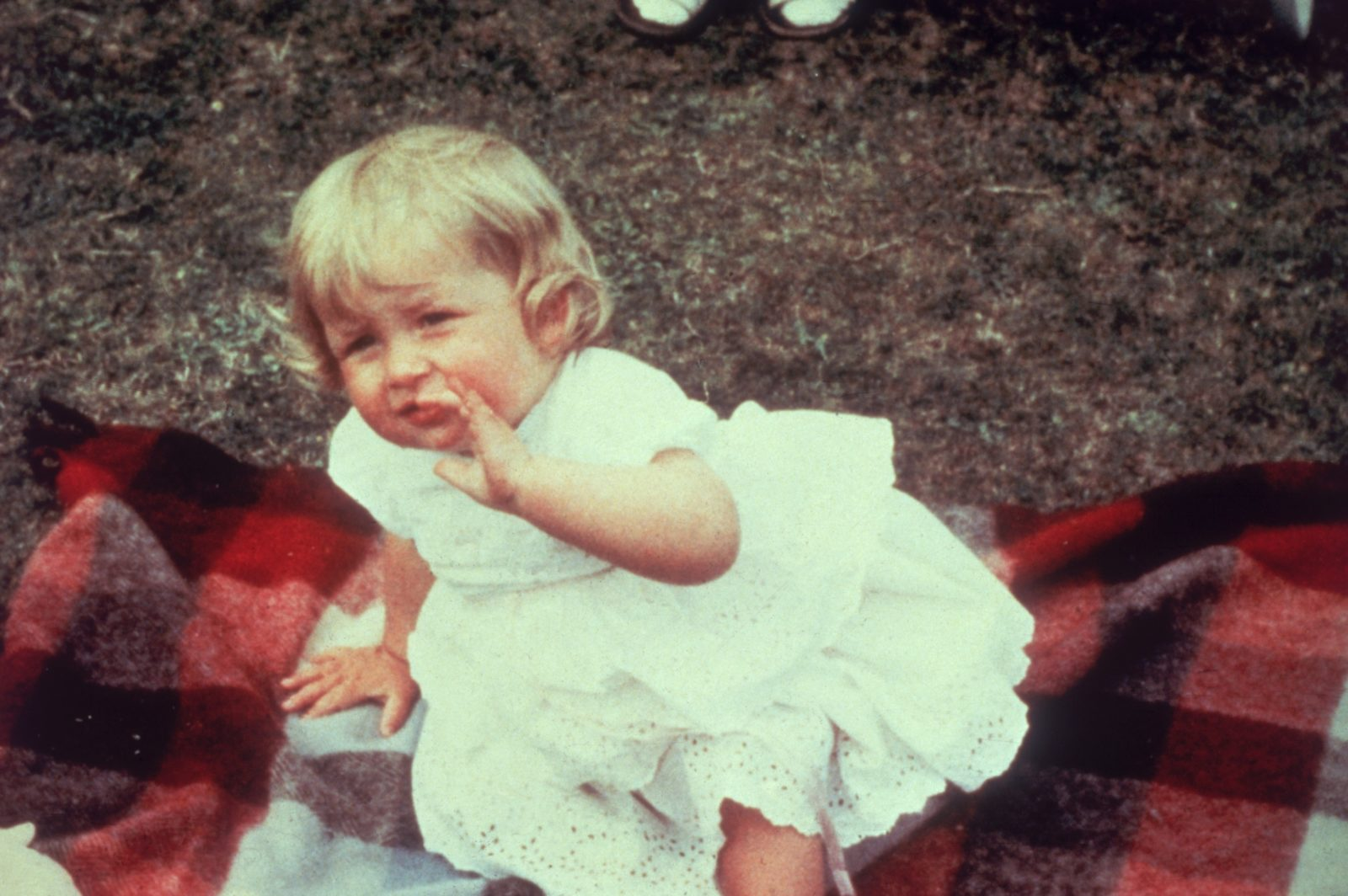 Princess Diana on her first birthday in 1962. Source: Getty.