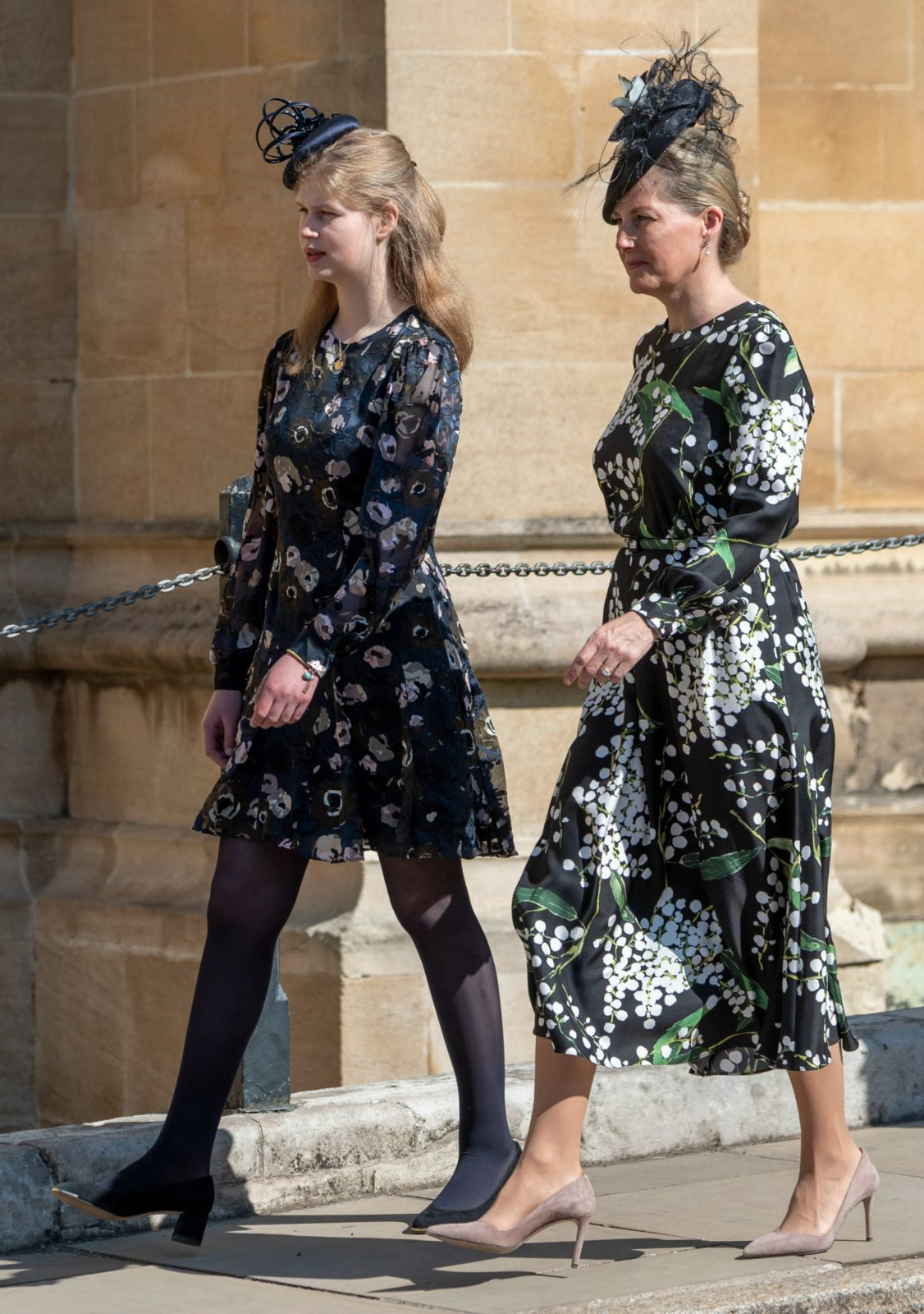 Sophie Wessex was joined by her daughter Lady Louise at the service. Source: Getty.
