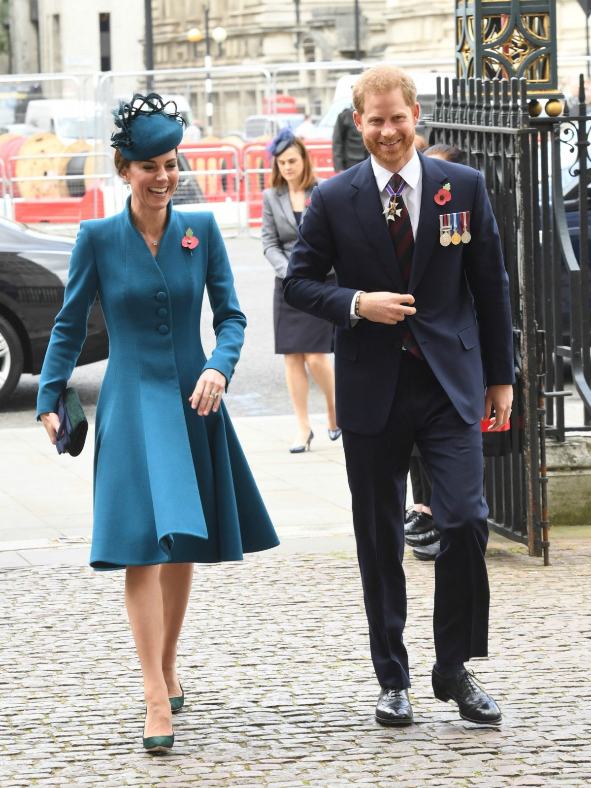 Prince Harry and the Duchess of Cambridge at Westminster Abbey for Thursday's Anzac Day service.