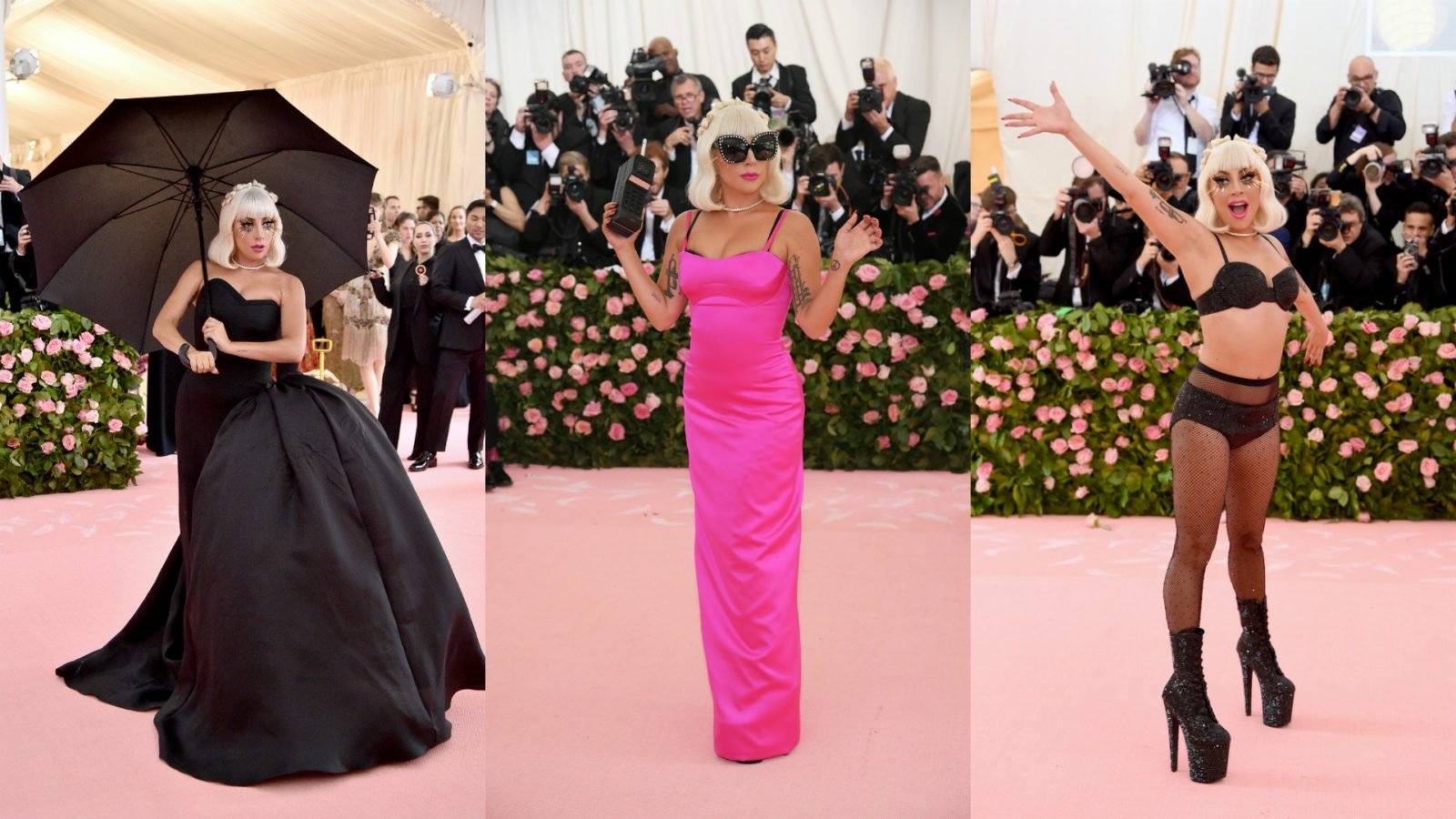 Lady Gaga did several outfit changes upon arrival at the Met Gala.