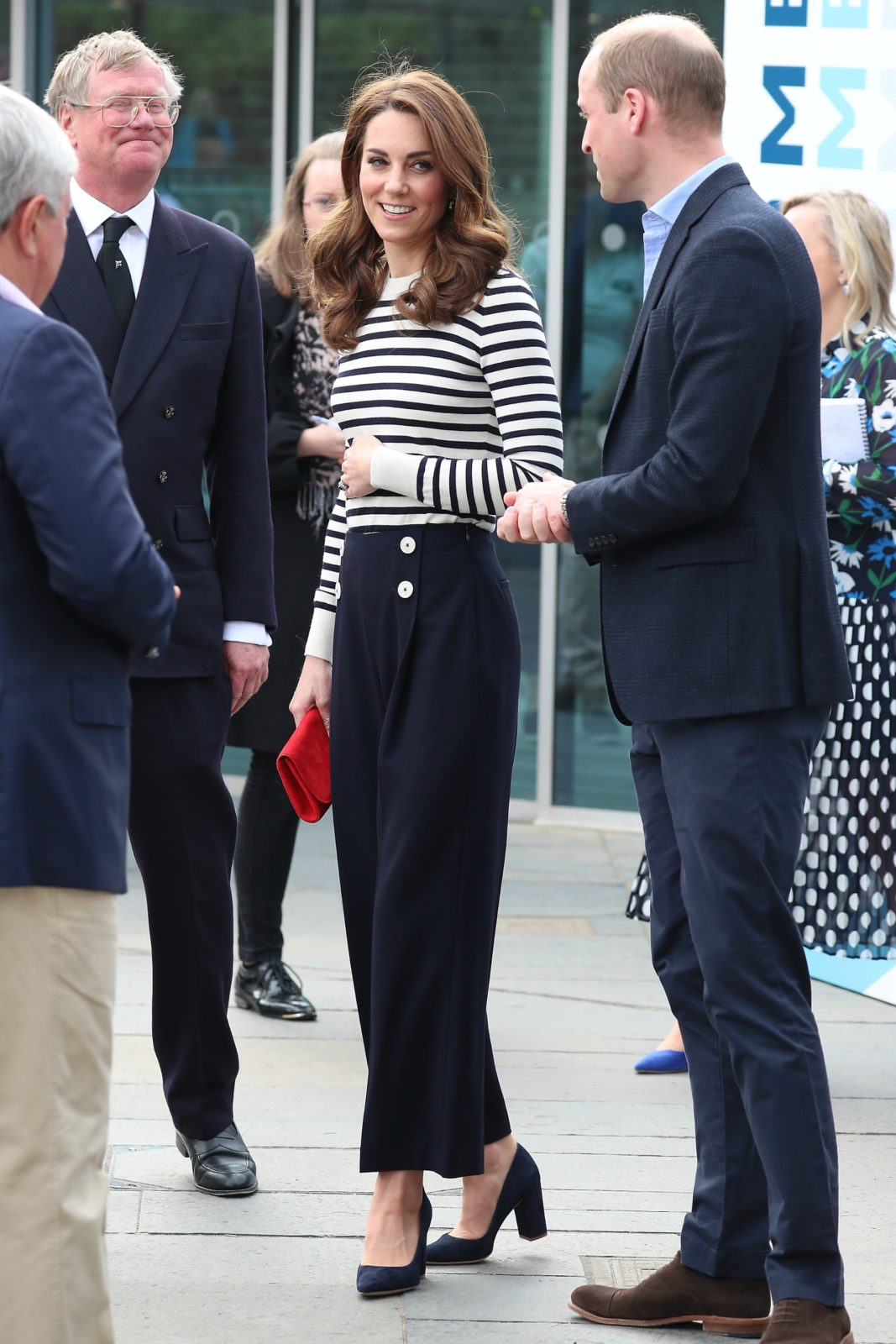 Catherine and William speaking at the launch of a new sailing race on Tuesday. Source: Getty