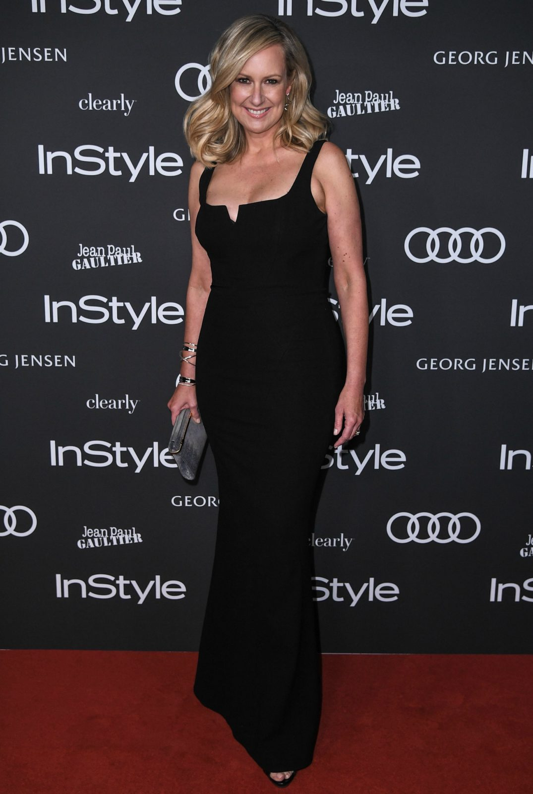 Melissa Doyle wowed in a stylish black number.