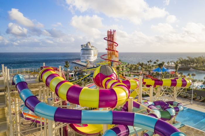 The island feature 13 thrilling waterslides. Source: Royal Caribbean