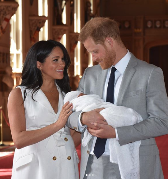 The couple looked delighted to show off their baby boy. Source: Instagram/Royal Family.