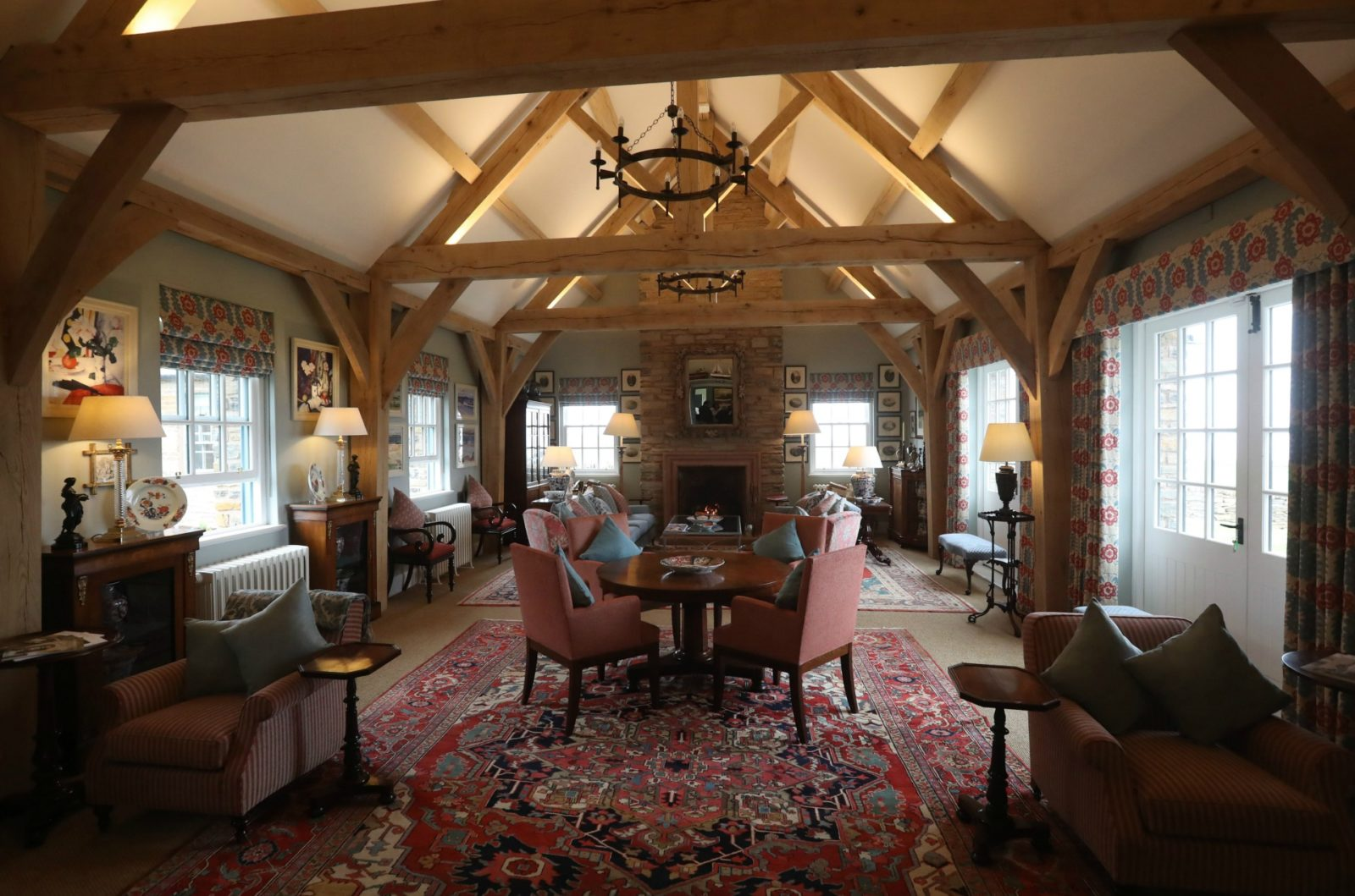 The drawing room located inside the Granary Lodge. Source: Getty