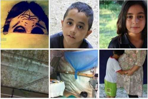 A compilation of some of the now deleted posts from the Facebook page; they include drawings, pictures of children and the conditions they are living in.